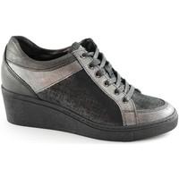 Schuhe Damen Sneaker Low Grunland GRÜNLAND CURI SC2062 graue Schuhe Spitze Frau zeppetta herausneh Grigio