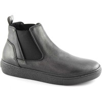 Schuhe Damen Boots Grunland GRÜNLAND NIQU PO1606 schwarze Schuhe Mitte beatles elastische Ki Nero