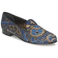 Schuhe Damen Slipper Etro 3046 Schwarz / Blau