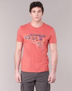 Kleidung Herren T-Shirts Napapijri VINTAGE Korallenrot