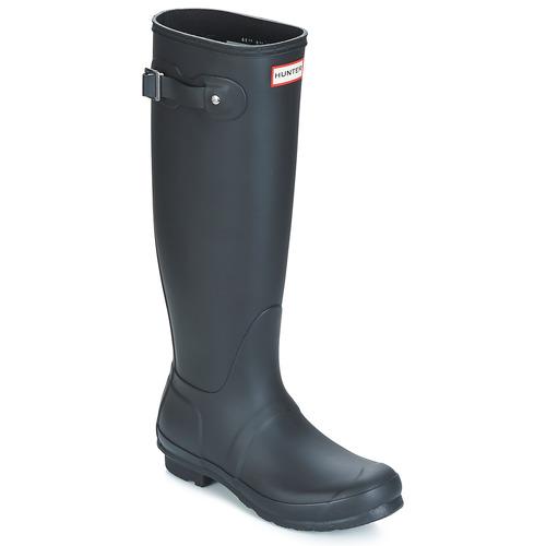 Hunter WOMEN'S ORIGINAL TALL Schwarz  Schuhe Gummistiefel Damen