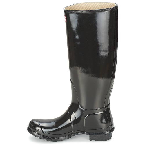 Hunter Schwarz WOMEN'S ORIGINAL TALL GLOSS Schwarz Hunter Schuhe Gummistiefel Damen 108 96ed55
