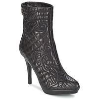 Schuhe Damen Low Boots Versace MARGHERITA Schwarz
