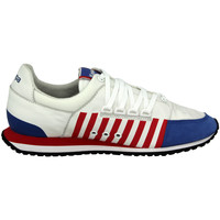 Sneaker Low Kappa AUTHENTIC LA84 US ONE Weiss Blau Rot Leder Unisex Sneakers Schu