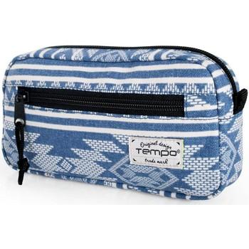 Taschen Kosmetiktasche Tempo Schulgrund Blau