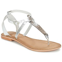 Schuhe Damen Sandalen / Sandaletten Vero Moda VMANNELI LEATHER SANDAL Silbern