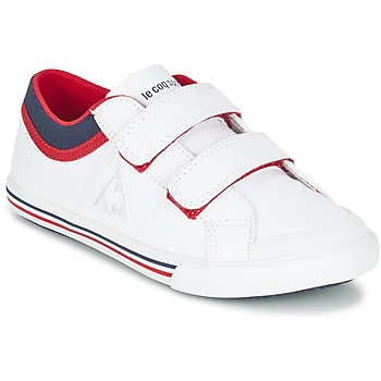 Schuhe Jungen Sneaker Low Le Coq Sportif SAINT GAETAN PS CVS Weiss / Rot
