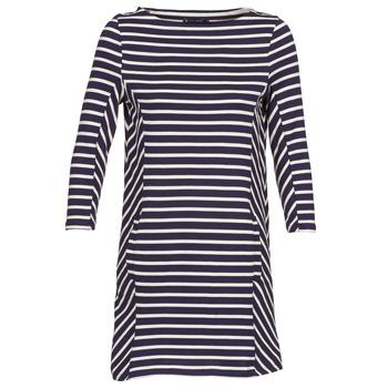 Kleidung Damen Kurze Kleider Petit Bateau LESS Marine / Beige