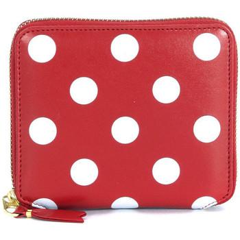 Taschen Damen Geldbeutel Comme Des Garcons Comme Des Garçons Geldbörse Leder mit weißen Punkten Rot