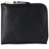 Taschen Damen Portemonnaie Comme Des Garcons rechteckiges Täschchen Leder Schwarz Schwarz