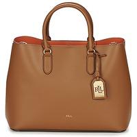 Taschen Damen Shopper / Einkaufstasche Ralph Lauren DRYDEN MARCY TOTE Braun / Orange