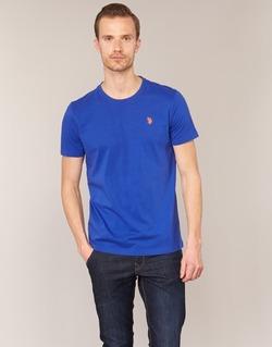 Kleidung Herren T-Shirts U.S Polo Assn. DBL HORSE Blau