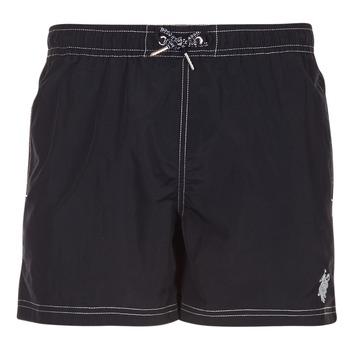 Kleidung Herren Badeanzug /Badeshorts U.S Polo Assn. USPA SWIM TRUNK MED Schwarz