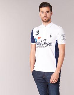Kleidung Herren Polohemden U.S Polo Assn. SAINT TROPEZ POLO Weiss
