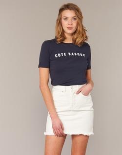 Kleidung Damen T-Shirts Loreak Mendian PAYS BASQUE Marine