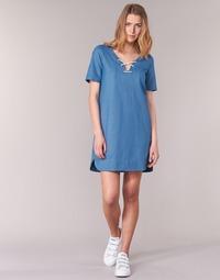 Kleidung Damen Kurze Kleider Loreak Mendian TXANGAI Blau