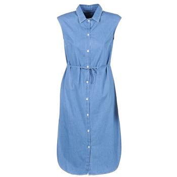 Kleidung Damen Maxikleider Loreak Mendian BAT ARKANSAS Blau
