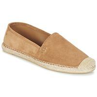 Schuhe Damen Leinen-Pantoletten mit gefloch Ralph Lauren DANITA ESPADRILLES CASUAL Camel