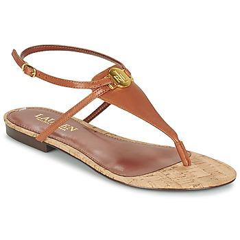 Schuhe Damen Sandalen / Sandaletten Ralph Lauren ANITA SANDALS CASUAL Braun