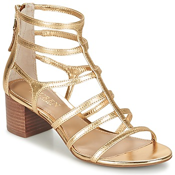 Schuhe Damen Sandalen / Sandaletten Ralph Lauren MADGE SANDALS DRESS Gold