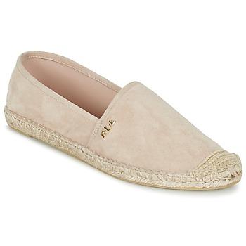 Schuhe Damen Leinen-Pantoletten mit gefloch Ralph Lauren DANITA ESPADRILLES CASUAL Rose