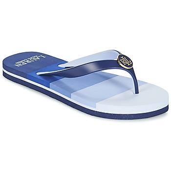 Schuhe Damen Zehensandalen Ralph Lauren ELISSA III SANDALS CASUAL Blau