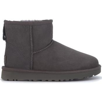 Schuhe Damen Boots UGG UGG Stiefeletten Classic II Mini Rauleder Grau Schwarz