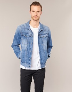 Kleidung Herren Jeansjacken G-Star Raw 3301 DECONSTRUCTED 3D SLIM Blau