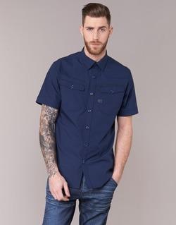 Kleidung Herren Kurzärmelige Hemden G-Star Raw 3301 SHIRT Marine