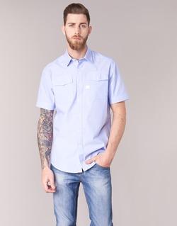 Kleidung Herren Kurzärmelige Hemden G-Star Raw LANDOH Blau