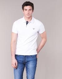 Kleidung Herren Polohemden Gant CONTRAST COLLAR PIQUE Weiss