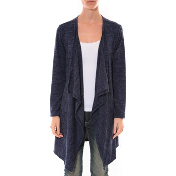 Kleidung Damen Strickjacken Barcelona Moda Cardigan Long Fashion Moda Bleu Blau