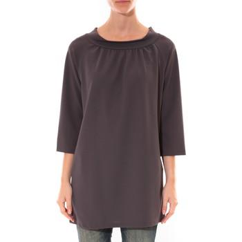 Kleidung Damen Kurze Kleider Barcelona Moda Robe Margarita Anthracite Grau