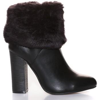 Schuhe Damen Low Boots Cassis Côte d'Azur Cassis Côte d' azur Bottine Wallace Noir Schwarz