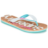 Schuhe Damen Zehensandalen Superdry CORK COLOUR POP FLIP FLOP Weiss / Rose / Blau