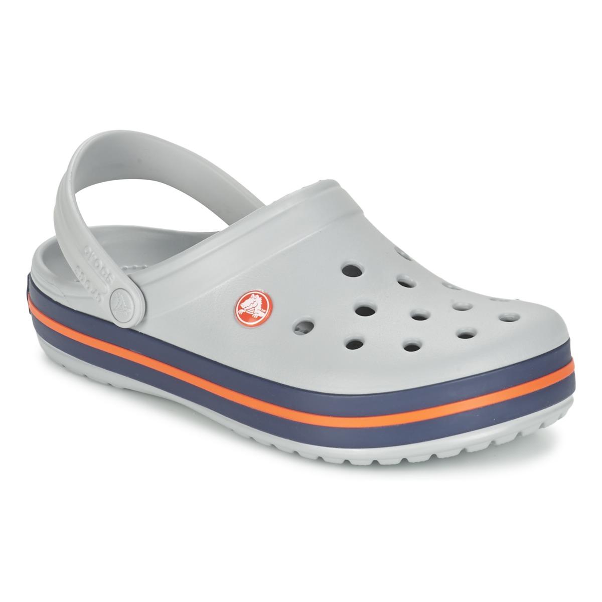 Crocs CROCBAND Grau - Kostenloser Versand bei Spartoode ! - Schuhe Pantoletten / Clogs  35,99 €