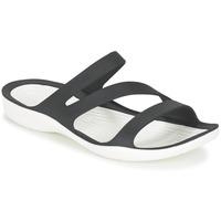 Schuhe Damen Sandalen / Sandaletten Crocs SWIFTWATER SANDAL W Schwarz / Weiss