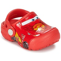 Schuhe Jungen Pantoletten / Clogs Crocs Crocs Funlab Light CARS 3 Movie Clog Rot