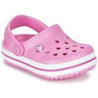 Schuhe Kinder Pantoletten / Clogs Crocs Crocband Clog Kids Rose
