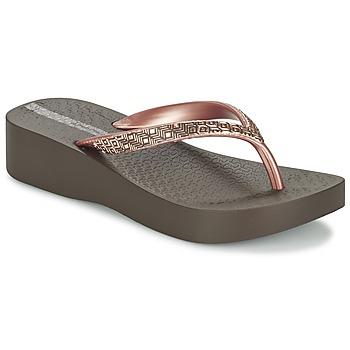 Schuhe Damen Zehensandalen Ipanema MESH PLAT II Braun / Rose