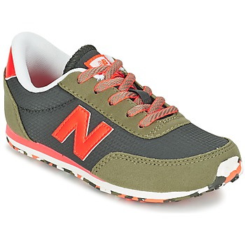 Schuhe Kinder Sneaker Low New Balance KL410 Grün / Grau / Orange
