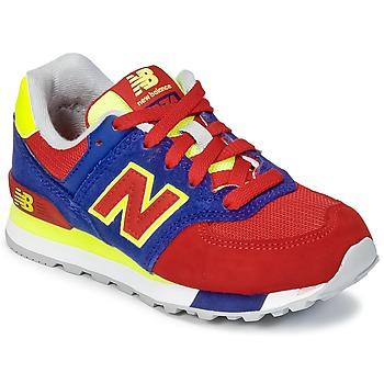 Schuhe Kinder Sneaker Low New Balance KL574 Blau / Rot / Gelb