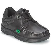 Schuhe Kinder Bootsschuhe Kickers REASON LACE Schwarz