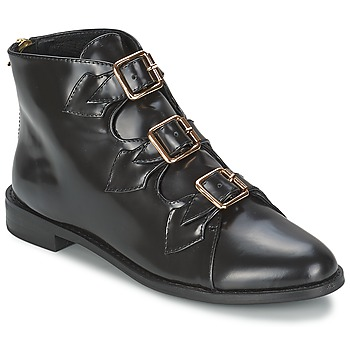 Schuhe Damen Low Boots F-Troupe Triple Buckle Boot Schwarz