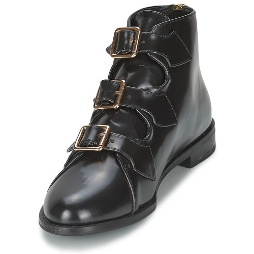 F-Troupe Triple Buckle Boot Schwarz Schuhe Low Boots Boots Low Damen 186 2a84ae