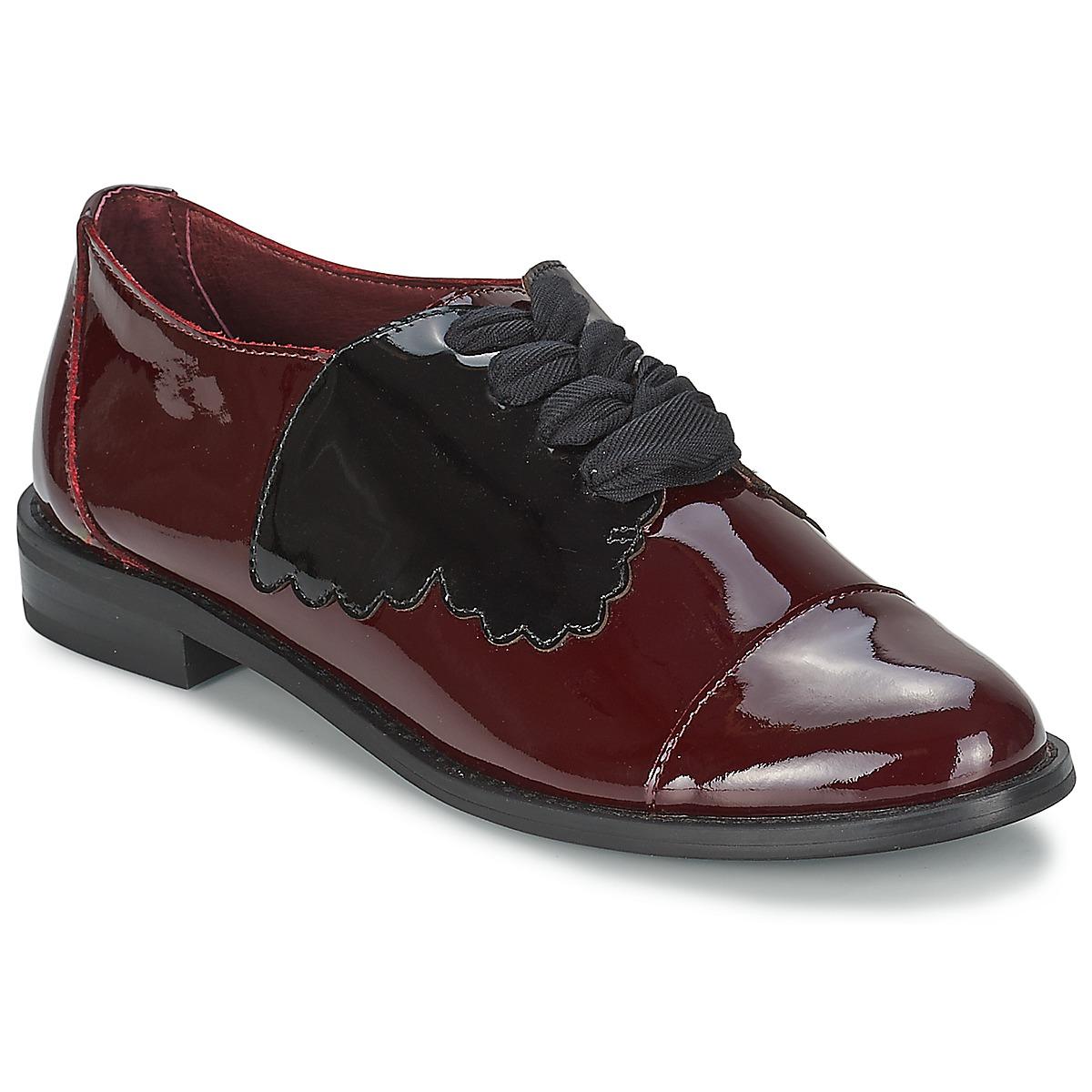 F-Troupe Butterfly Shoe Burgunderrot - Kostenloser Versand bei Spartoode ! - Schuhe Derby-Schuhe Damen 159,00 €