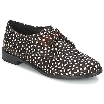 Schuhe Damen Derby-Schuhe F-Troupe Bow Polka Schwarz / Weiss