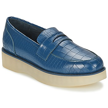 Schuhe Damen Slipper F-Troupe Penny Loafer Navy