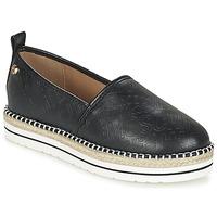 Schuhe Damen Leinen-Pantoletten mit gefloch Love Moschino JA10113G13 Schwarz