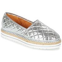 Schuhe Damen Leinen-Pantoletten mit gefloch Love Moschino JA10313G03 Silbern